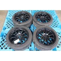 Work Emotion 11R Wheels 17x9 +28 5x100 Black w/ Tires