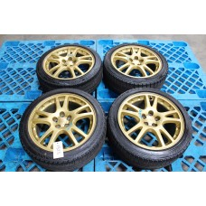 "GDB Subaru Impreza WRX STI Ver 7 Sedan Gold Wheels 17"" w/ Tires"