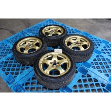 "GC8 Subaru Impreza WRX STI Ver 6 Goldies 16"" Gold Rims"