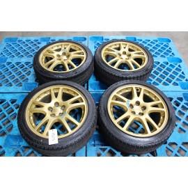 "GDB Subaru Impreza WRX STI Ver 7 Sedan Gold Wheels 17"" w/ Tires"